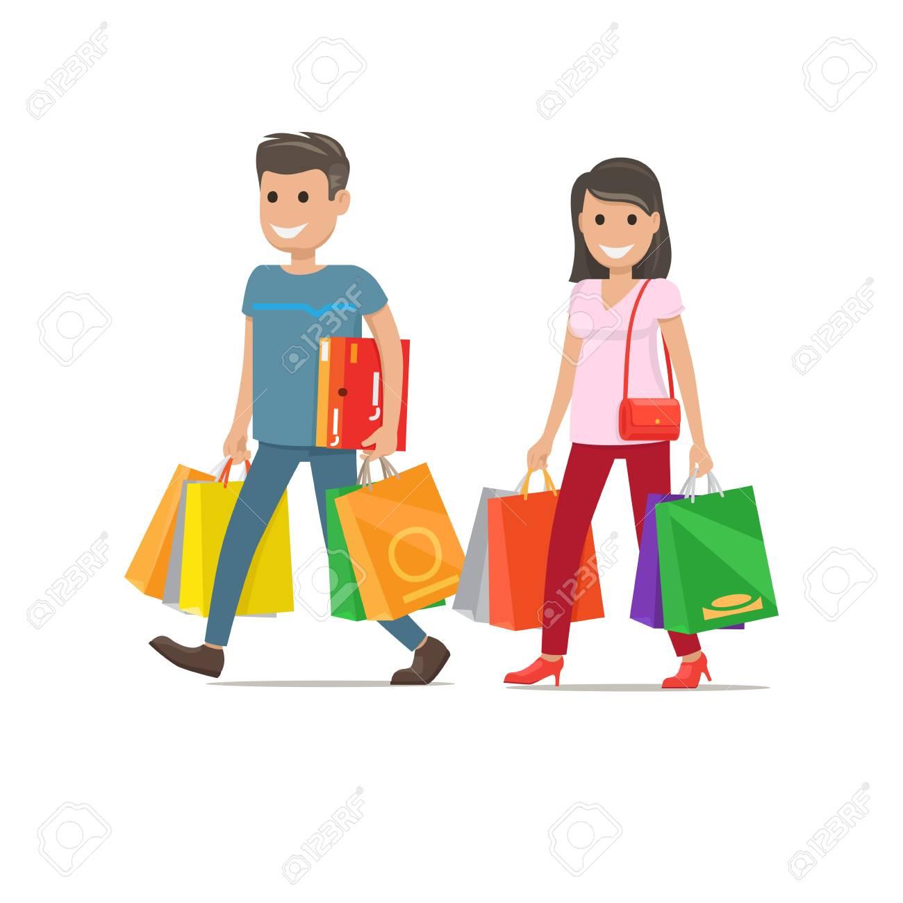 Shopping couple icon. - 91722232