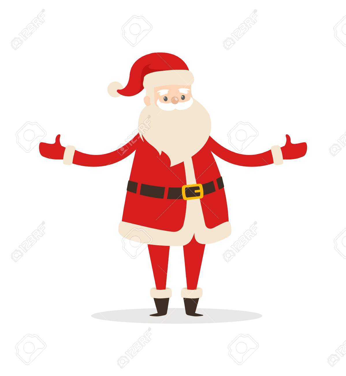 Father Christmas Cartoon Images.Santa Claus Cartoon Character With Wide Open Arms Vector Illustration
