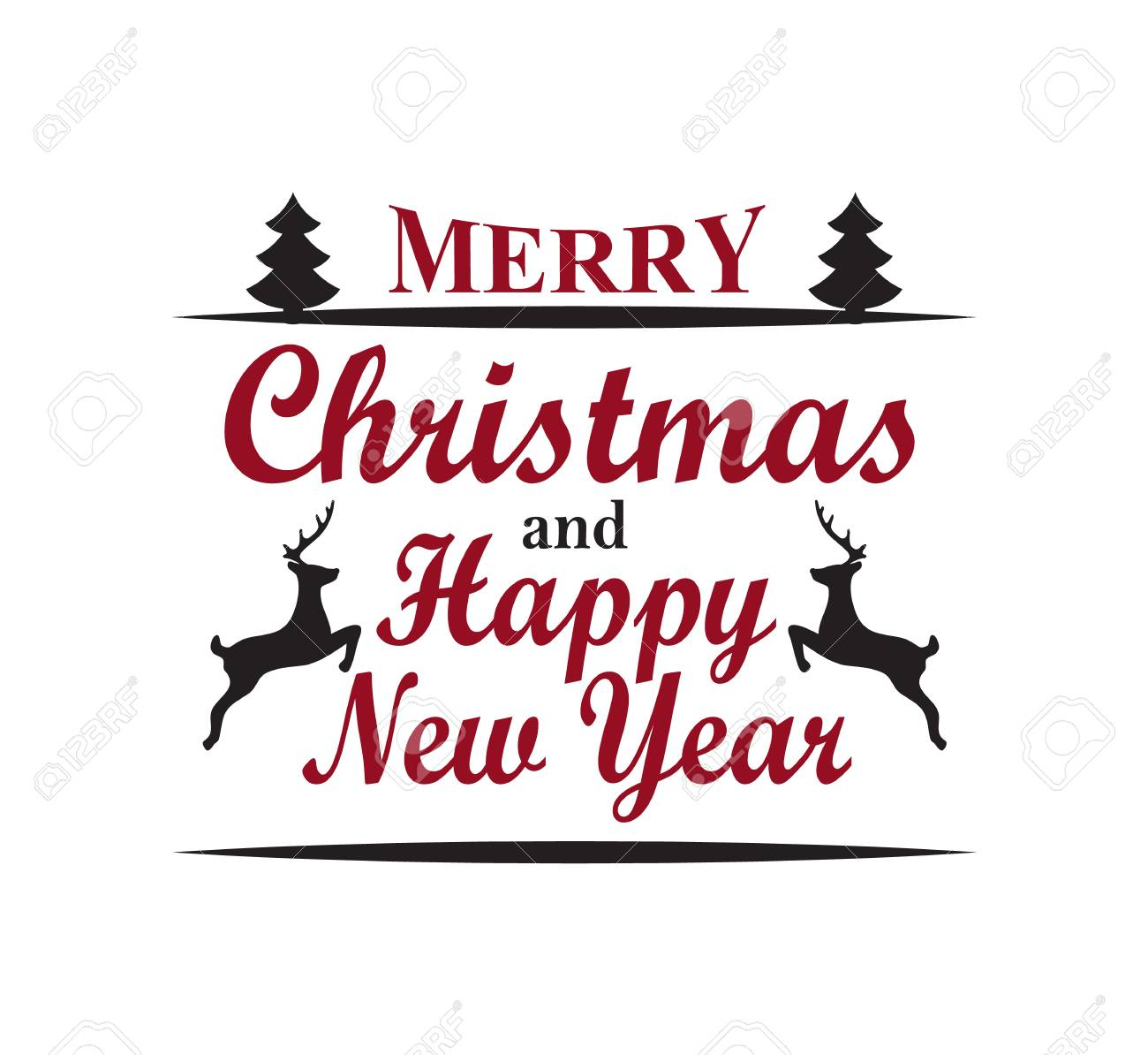 merry christmas happy new year vector illustration stock vector 92129753