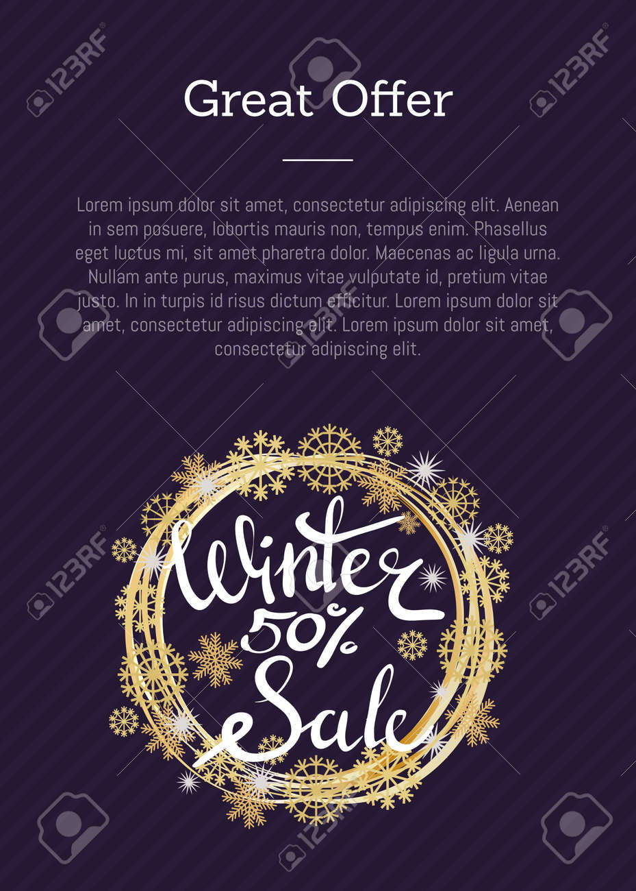 great offer winter sale 50 poster in decorative frame made of
