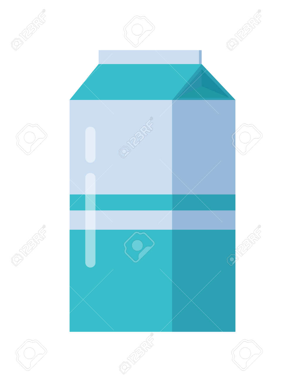 Embalagem De Cartao Azul De Leite Caixa De Produtos Lacteos