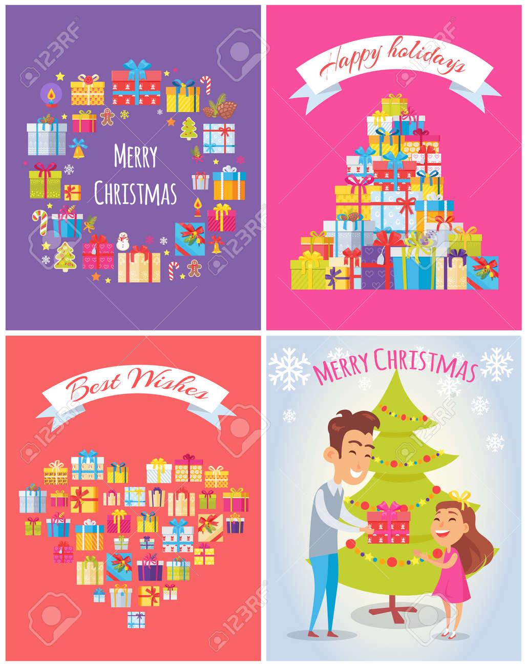 Happy Birthday Merry Christmas Illustration