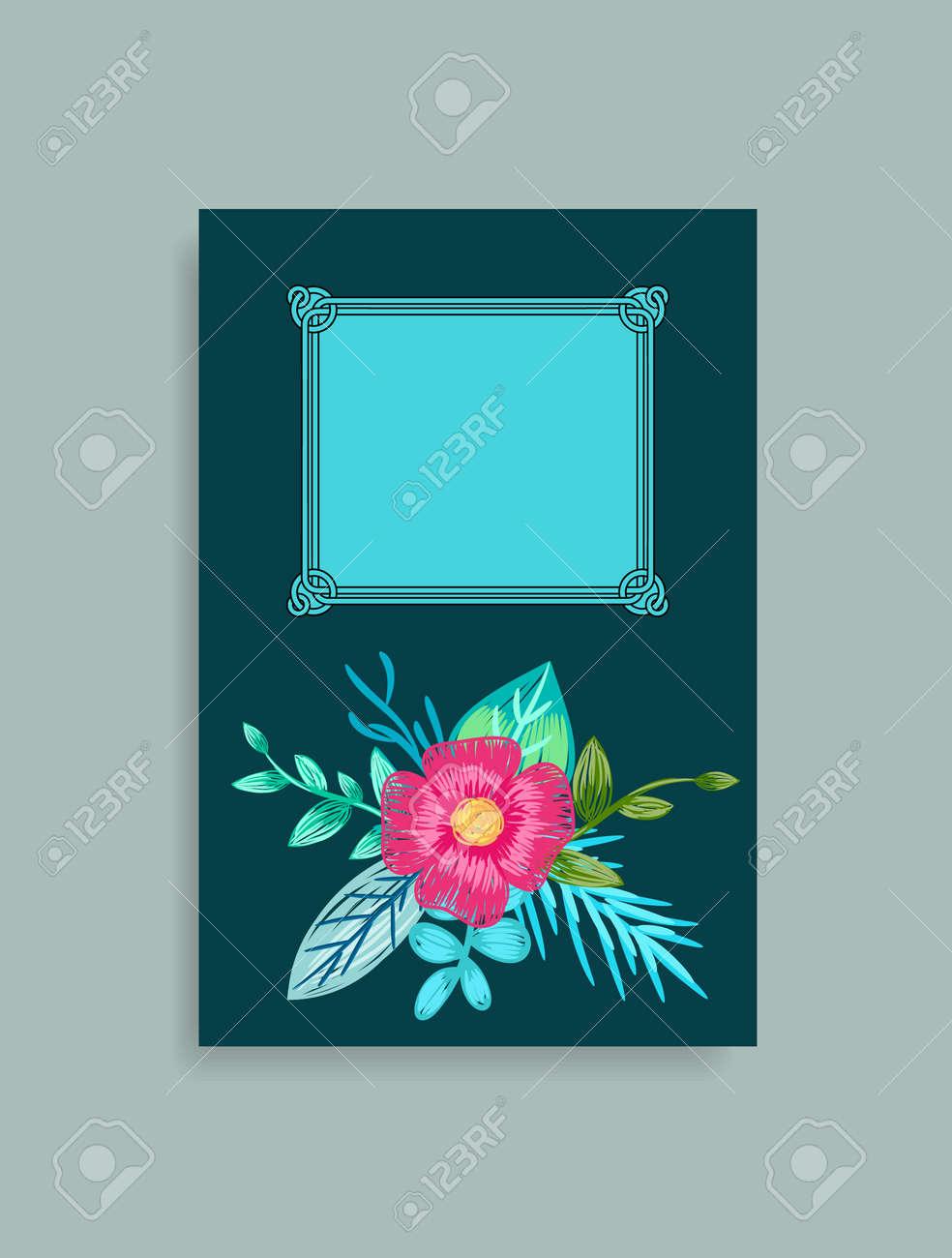Couverture De Livre Design Avec Des Fleurs Dessinees A La Main Rose