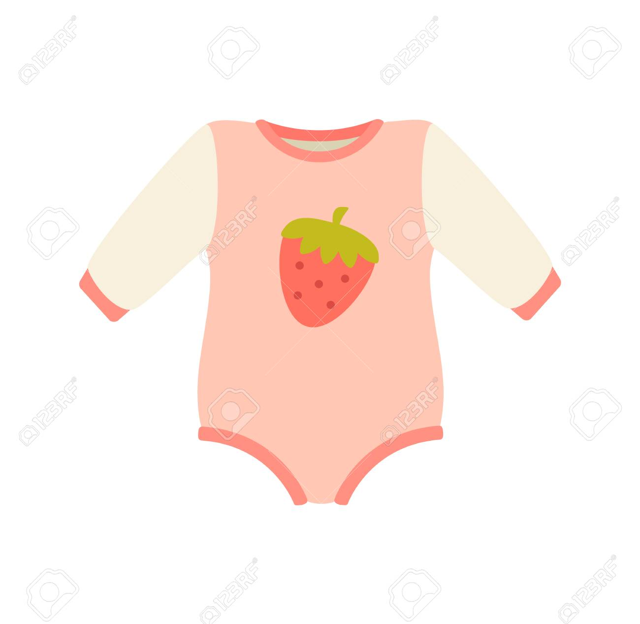 552dc6bc3 Baby Suit Clothes And Romper Vector Illustration Royalty Free ...