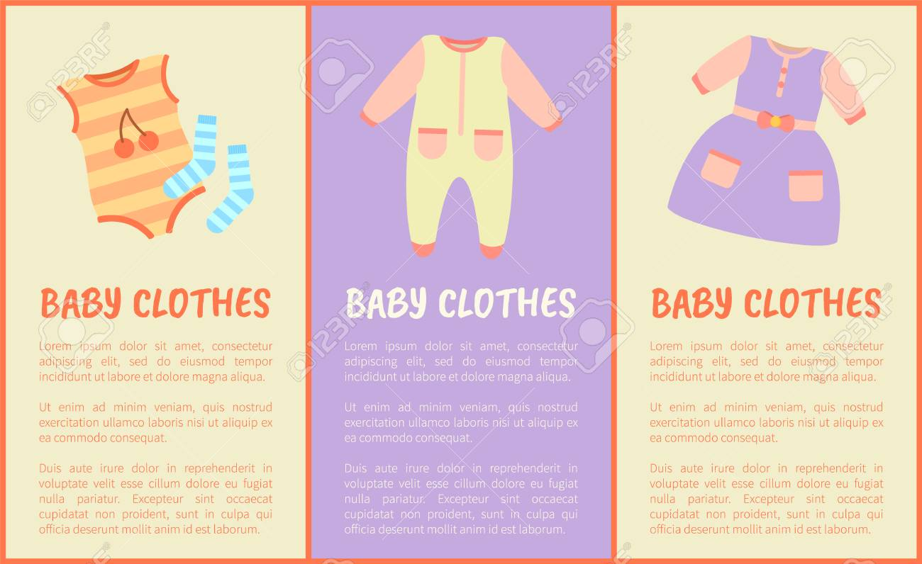 a50818a4e Baby Clothes And Text Sample With Headlines
