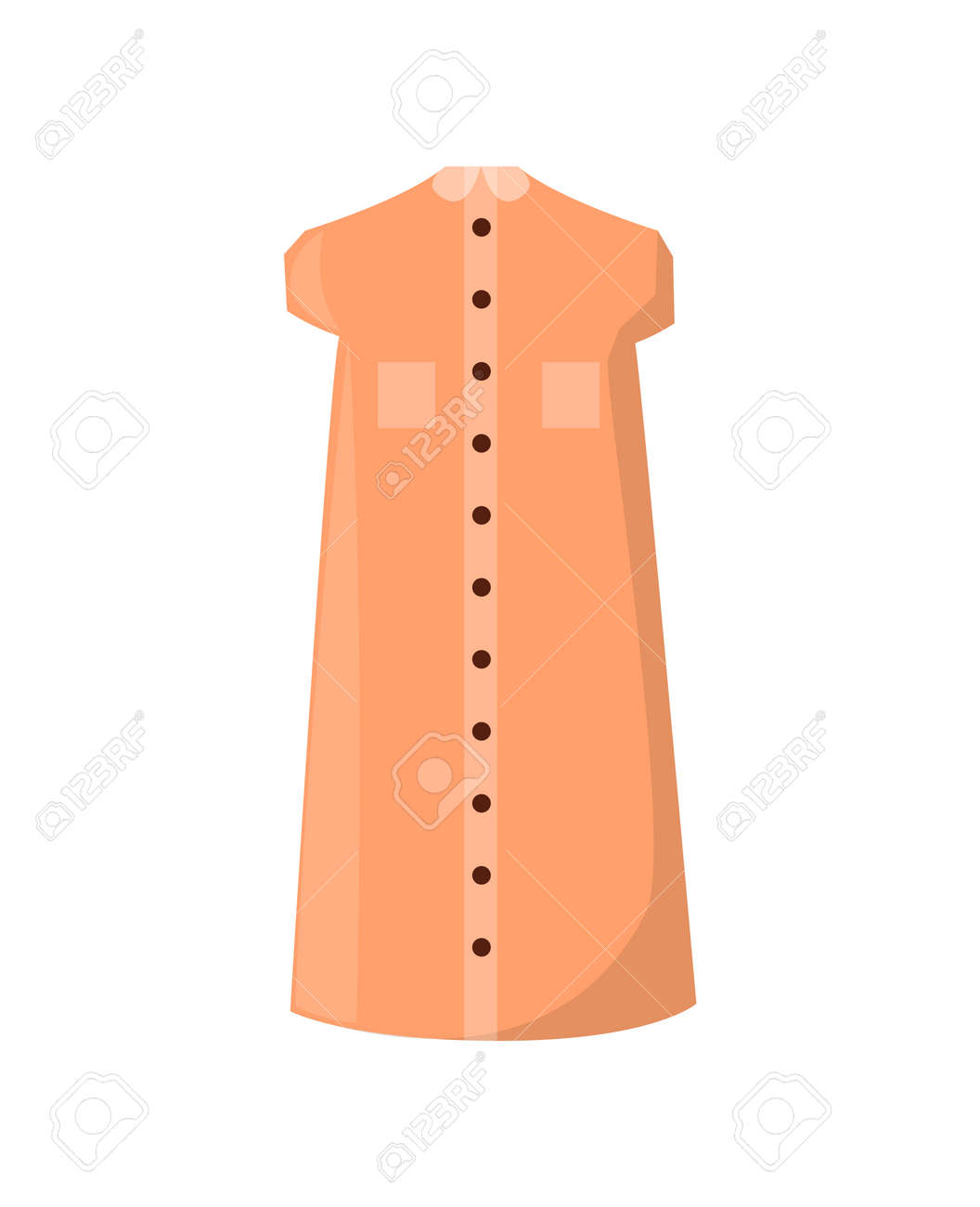bf6abe4fa8 Stock Photo - Stylish Summer Dress with Pockets and Buttons