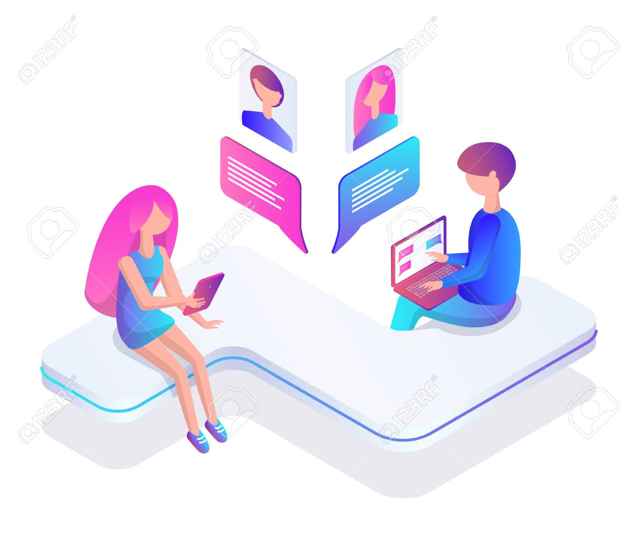 Chatting with people for free