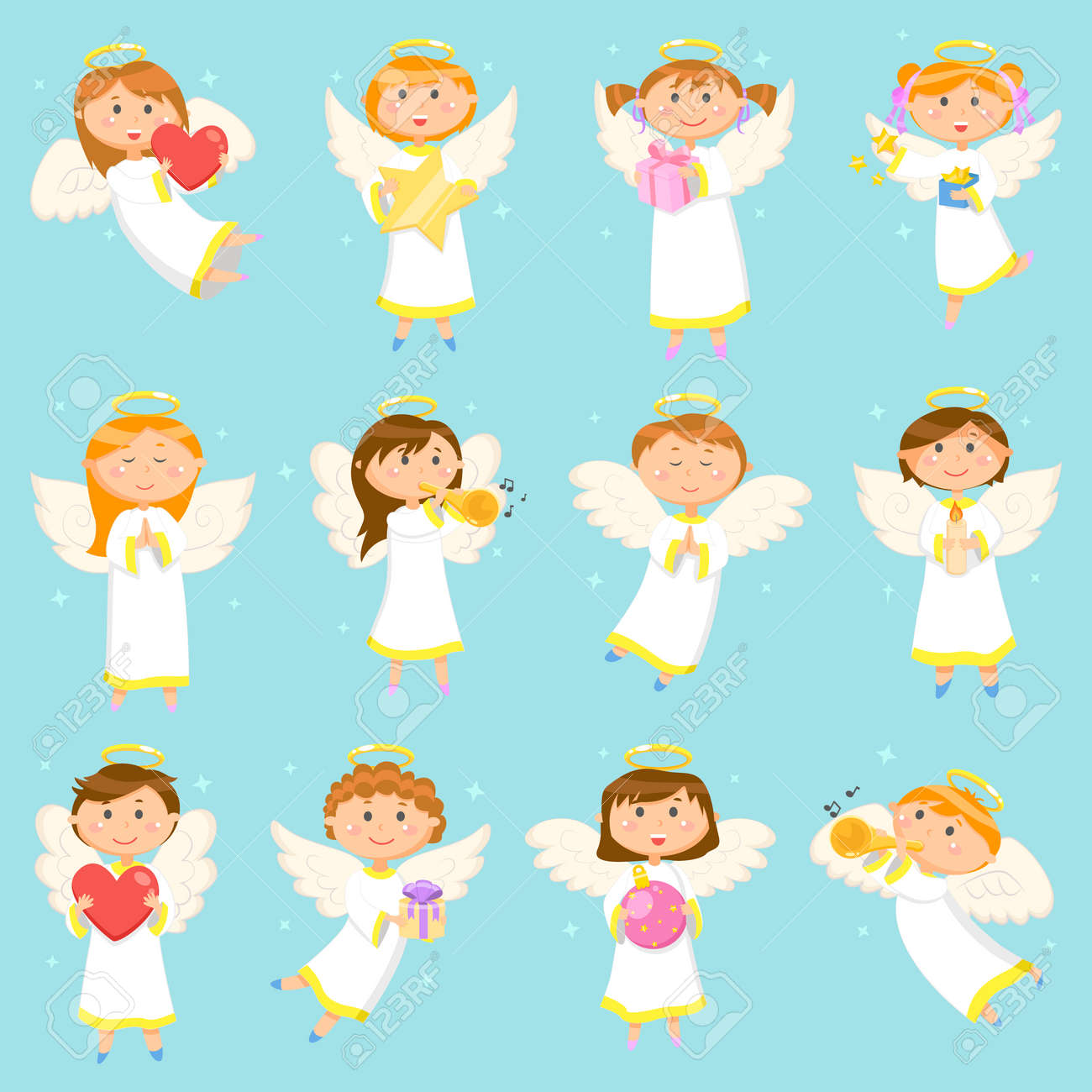 Angel Children, Boys and Girls Winter Holiday - 113721274