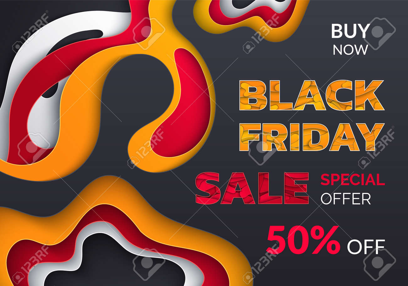 Black Friday Blowout Of Prices Sale Up To Half Price Buy Now Royalty Free Cliparts Vectors And Stock Illustration Image 126844408