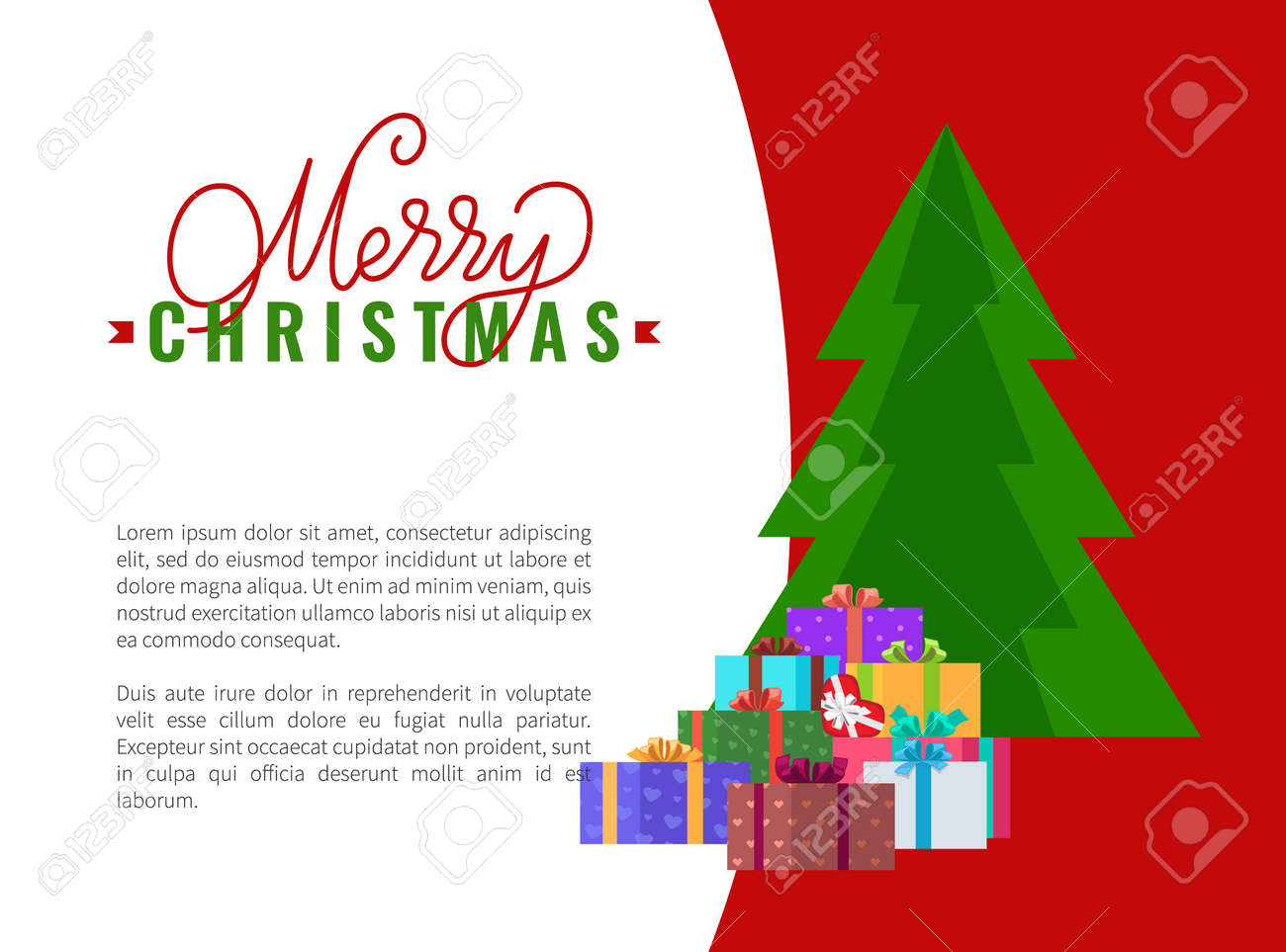 Merry Christmas Wishes Text.Merry Christmas Wishes Advertising Leaflet With Place For Text