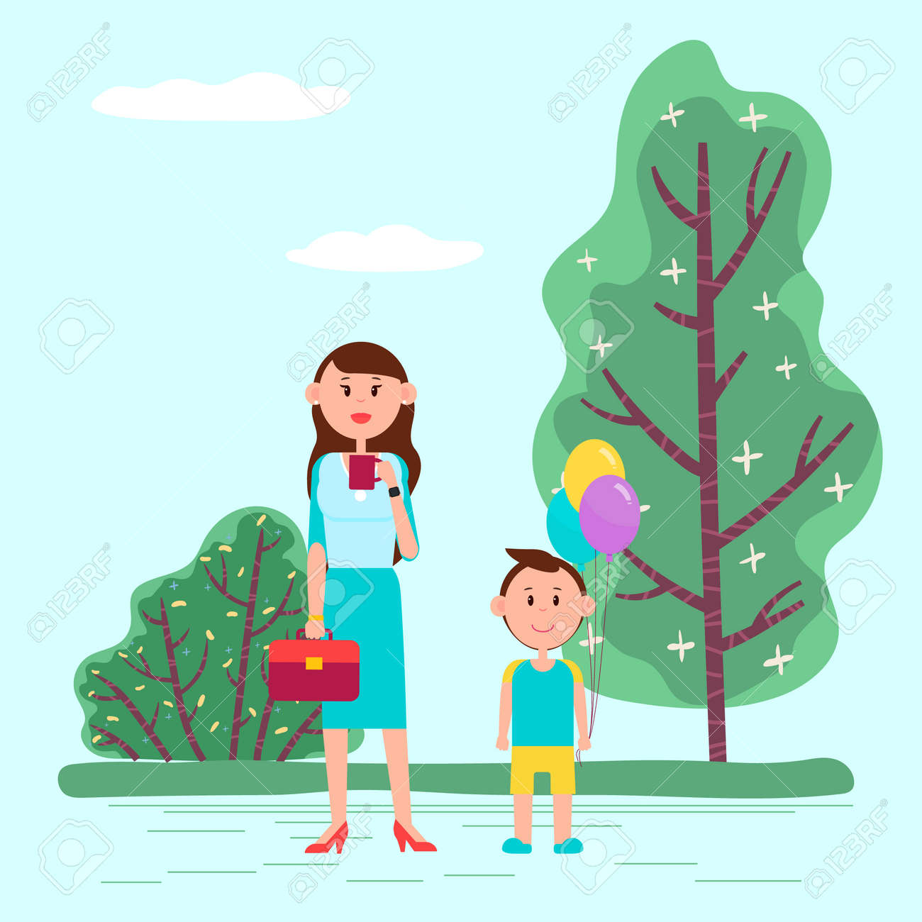 151 Kids Birthday Party Outside Illustrations, Royalty-Free Vector Graphics  & Clip Art - iStock