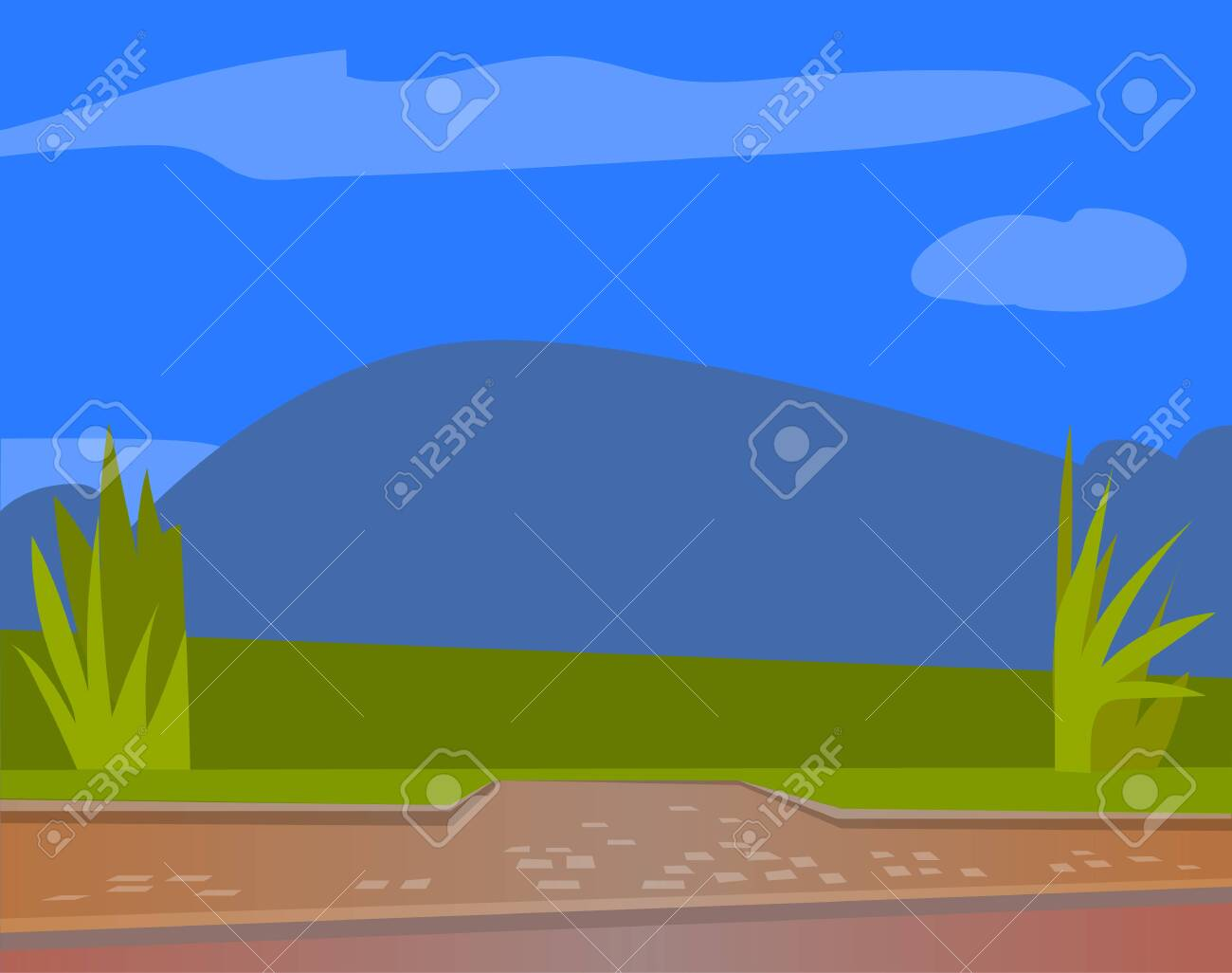 Space For Cafe Or Restaurant With Green Grass On Terrace And Royalty Free Cliparts Vectors And Stock Illustration Image 142991373