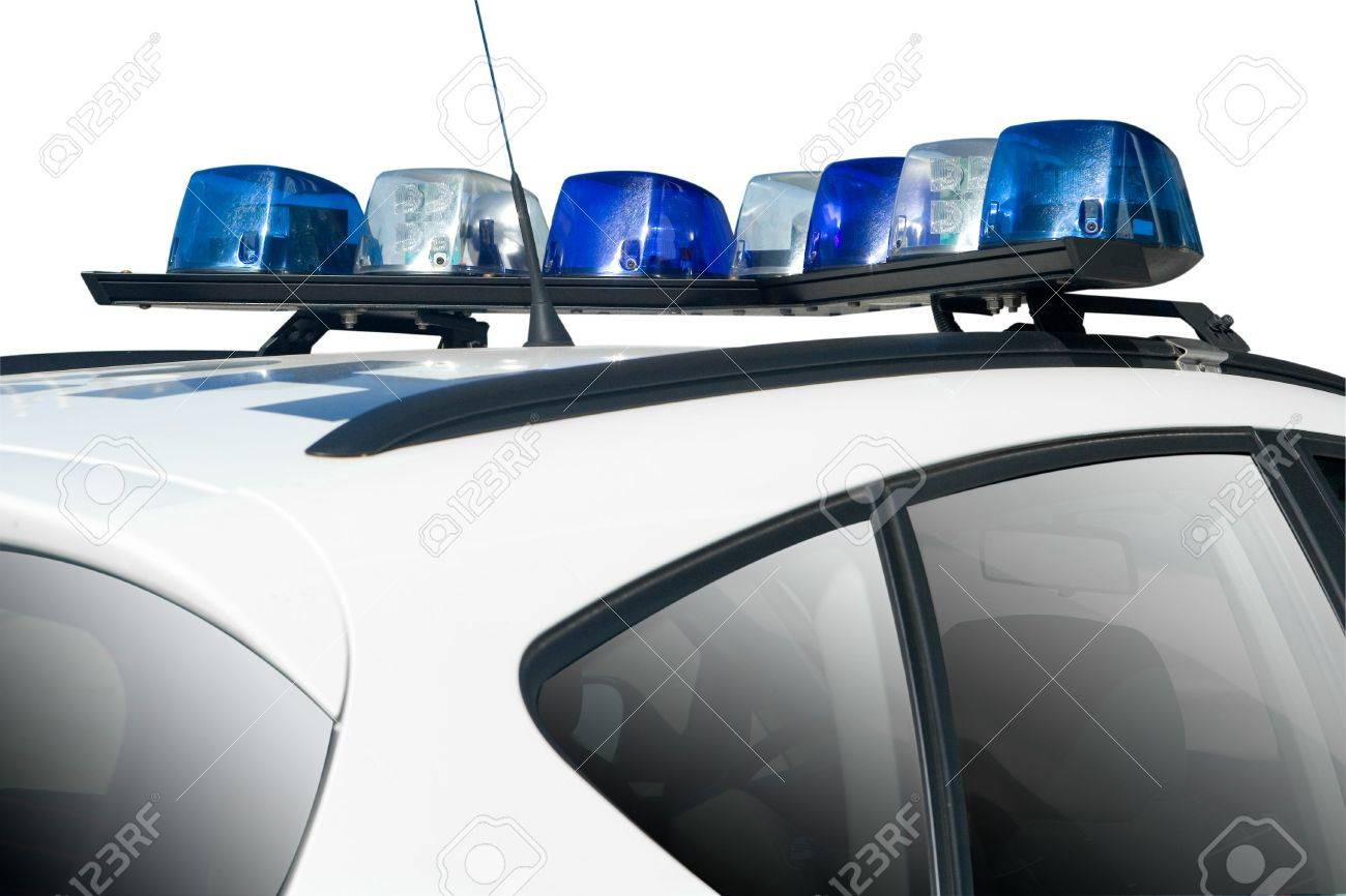 White police or security car with blue lights stock photo picture stock photo white police or security car with blue lights aloadofball Image collections