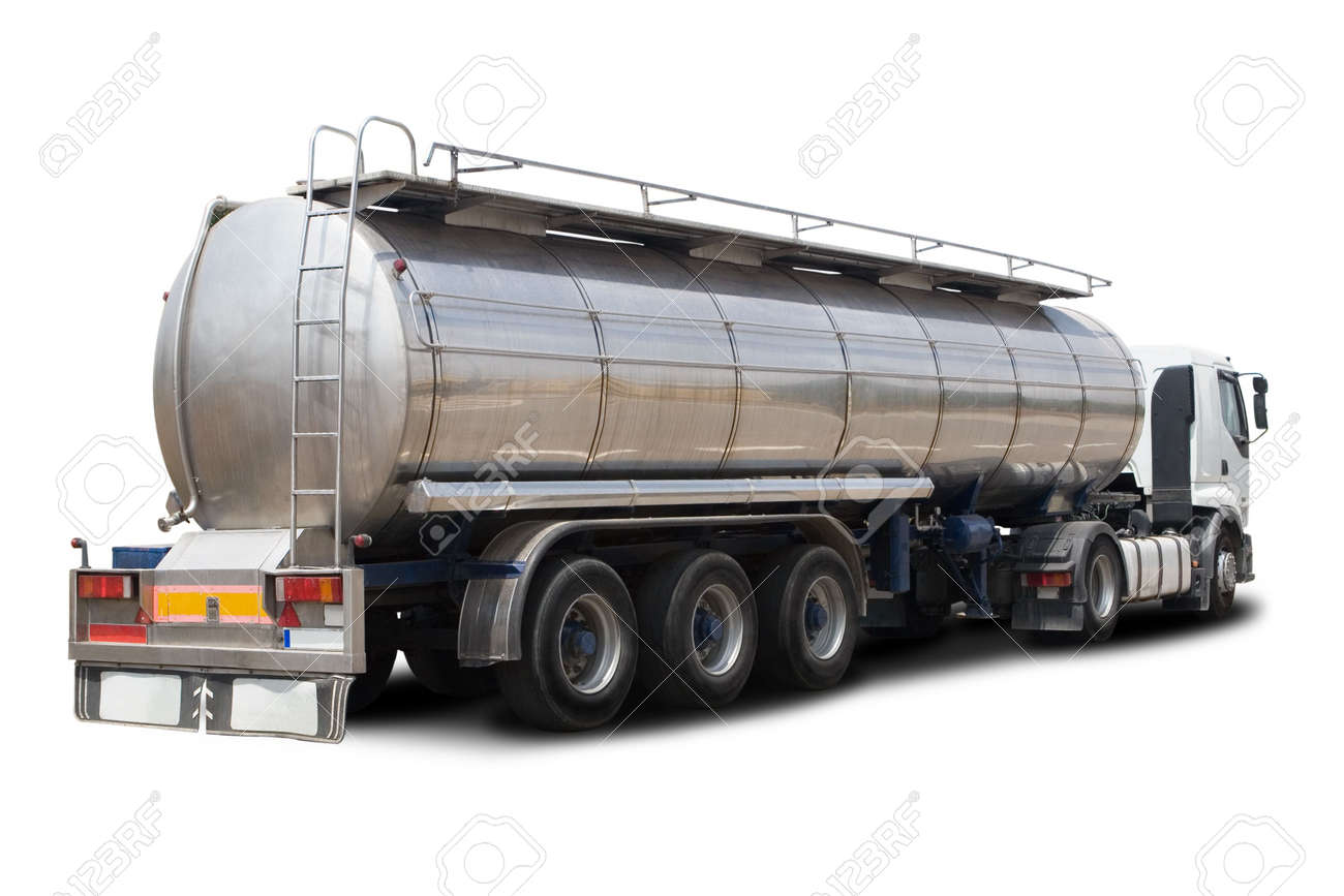 A Big Fuel Tanker Truck Isolated on White Stock Photo - 4922869
