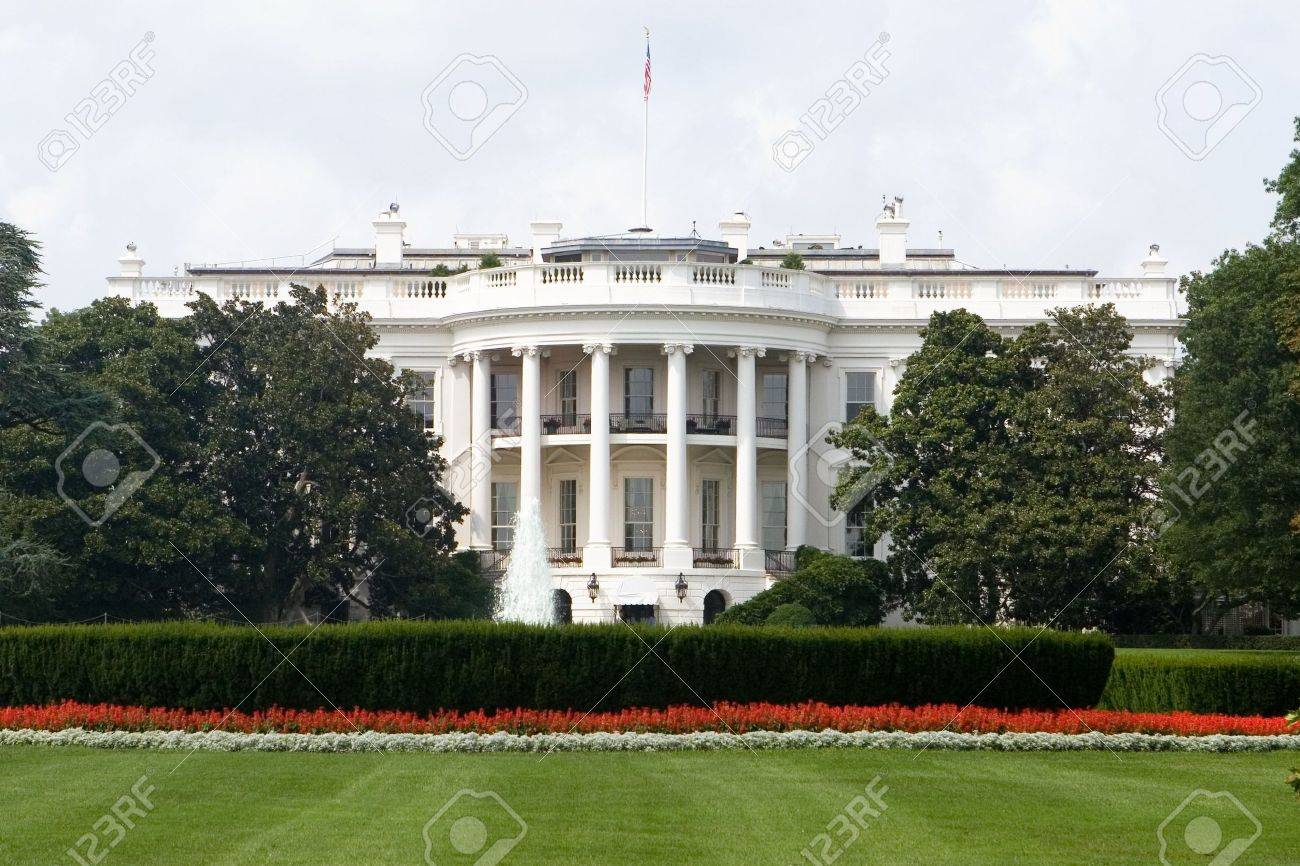 The Back Side of the White House in Washington DC Stock Photo - 5583458