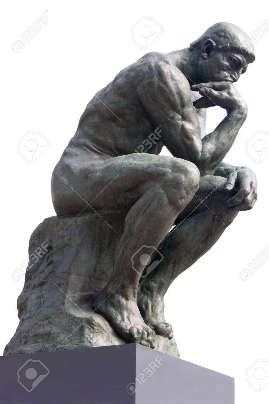 Genoeg The Thinker Statue By The French Sculptor Rodin Stock Photo  &MG65