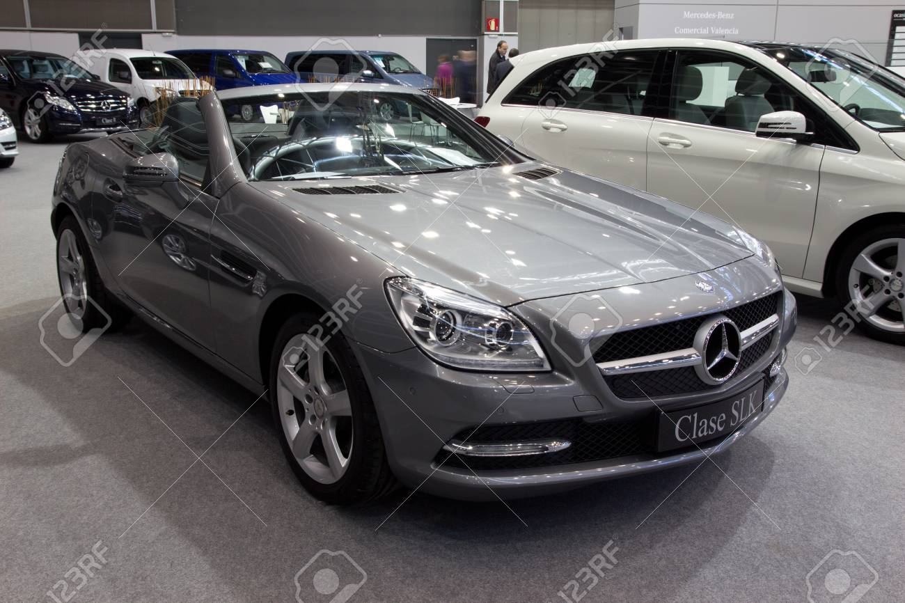 ... Valencia Spain December 7 A 2012 Mercedes Benz SLK Class