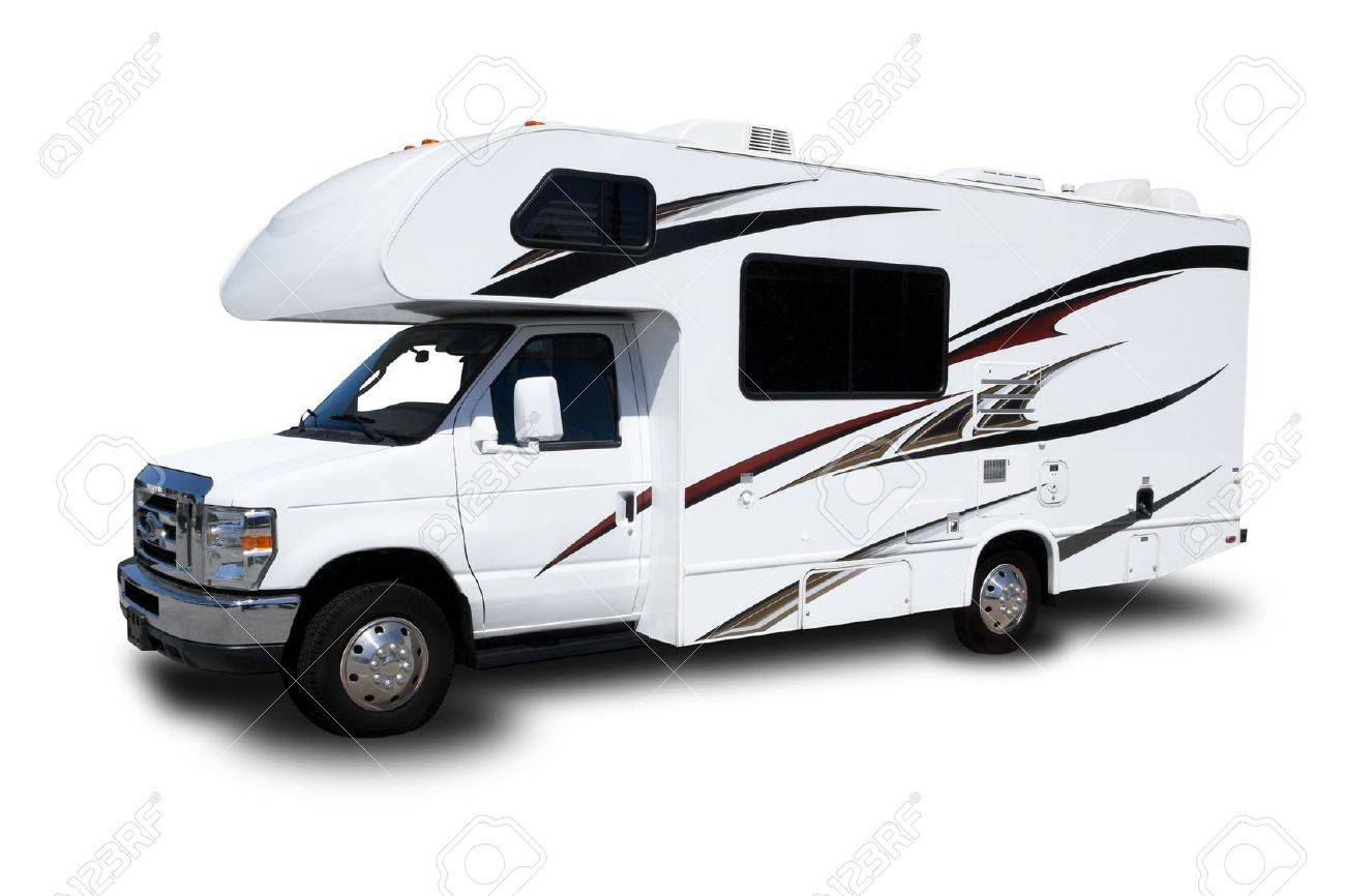 A Recreational Vehicle Isolated on White Background - 19432269