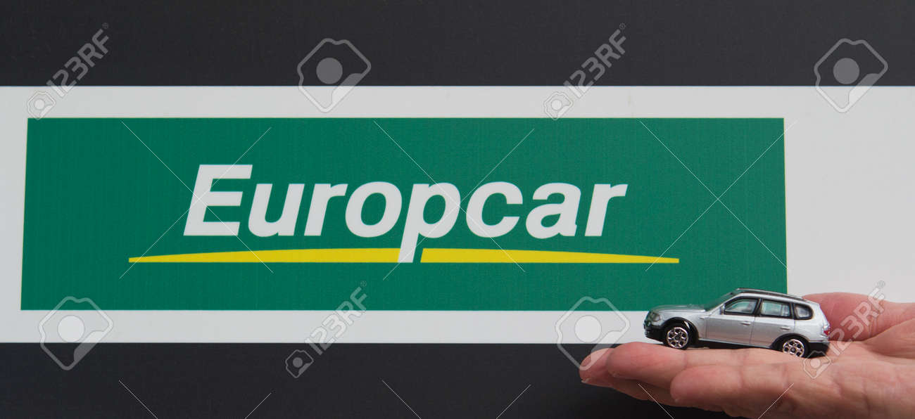 Valencia Spain January 25 2014 An Europcar Car Rental Sign