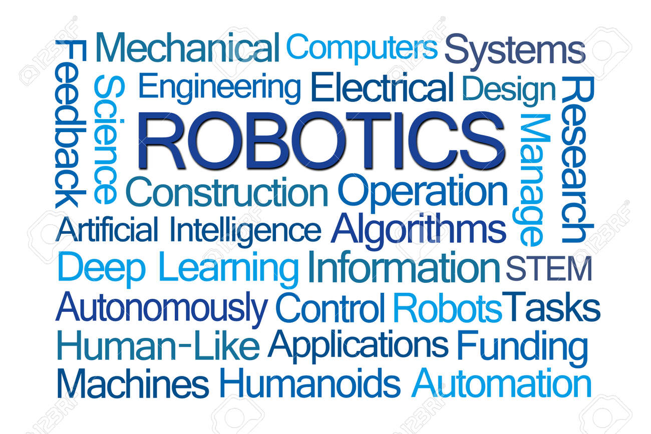 Robotics Word Cloud On White Background Stock Photo Picture And