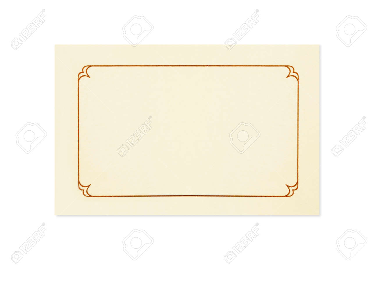 Blank Card, Isolated On White. Could Be A Place Card, Name Card ...