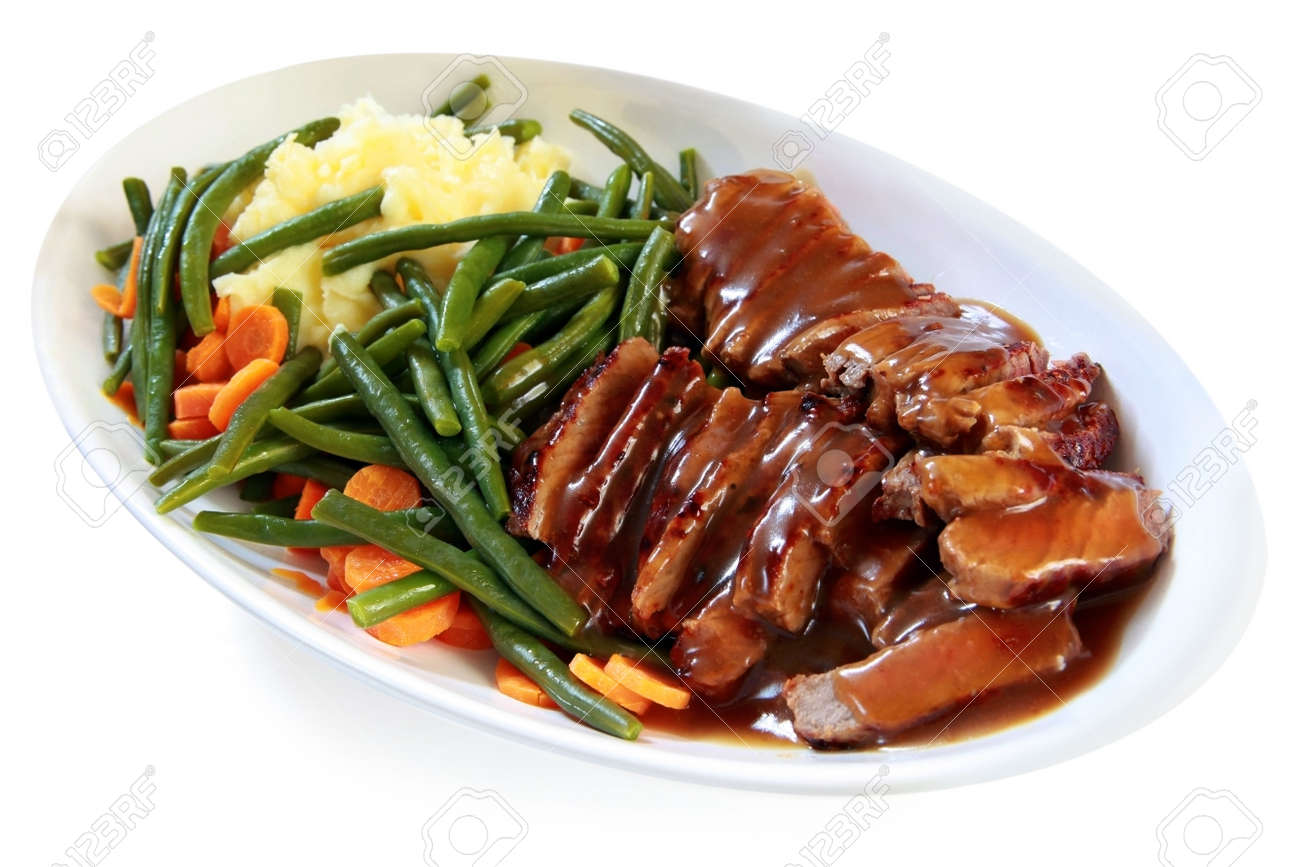 Sliced roast beef package - Platter Of Sliced Roast Beef With Gravy Mashed Potatoes String Beans And Carrots