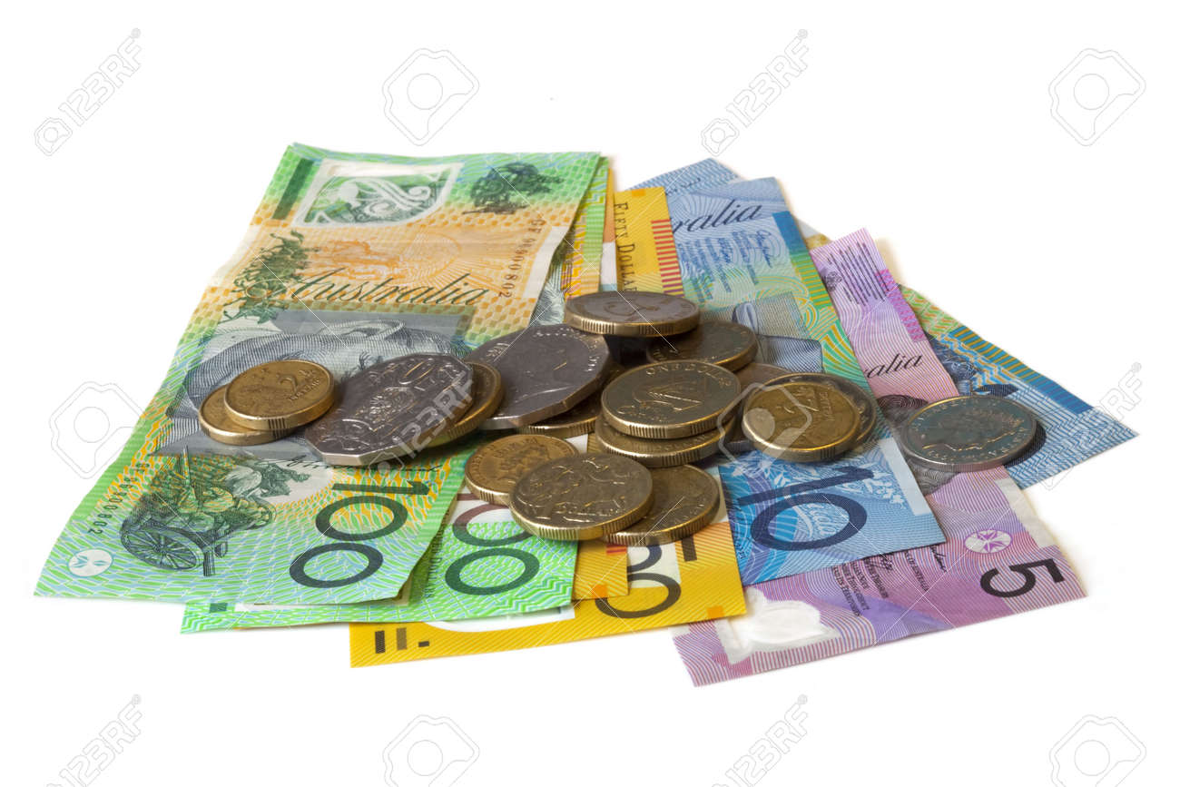 Australian Cash Isolated On White Notes And Coins Stock Photo Picture And Royalty Free Image Image 6440756