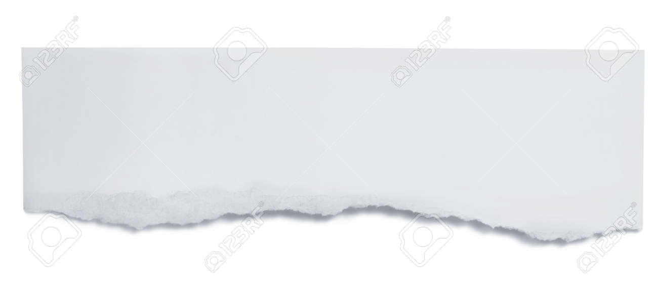 Torn paper banner, isolated on white with soft shadow. Stock Photo - 6789195