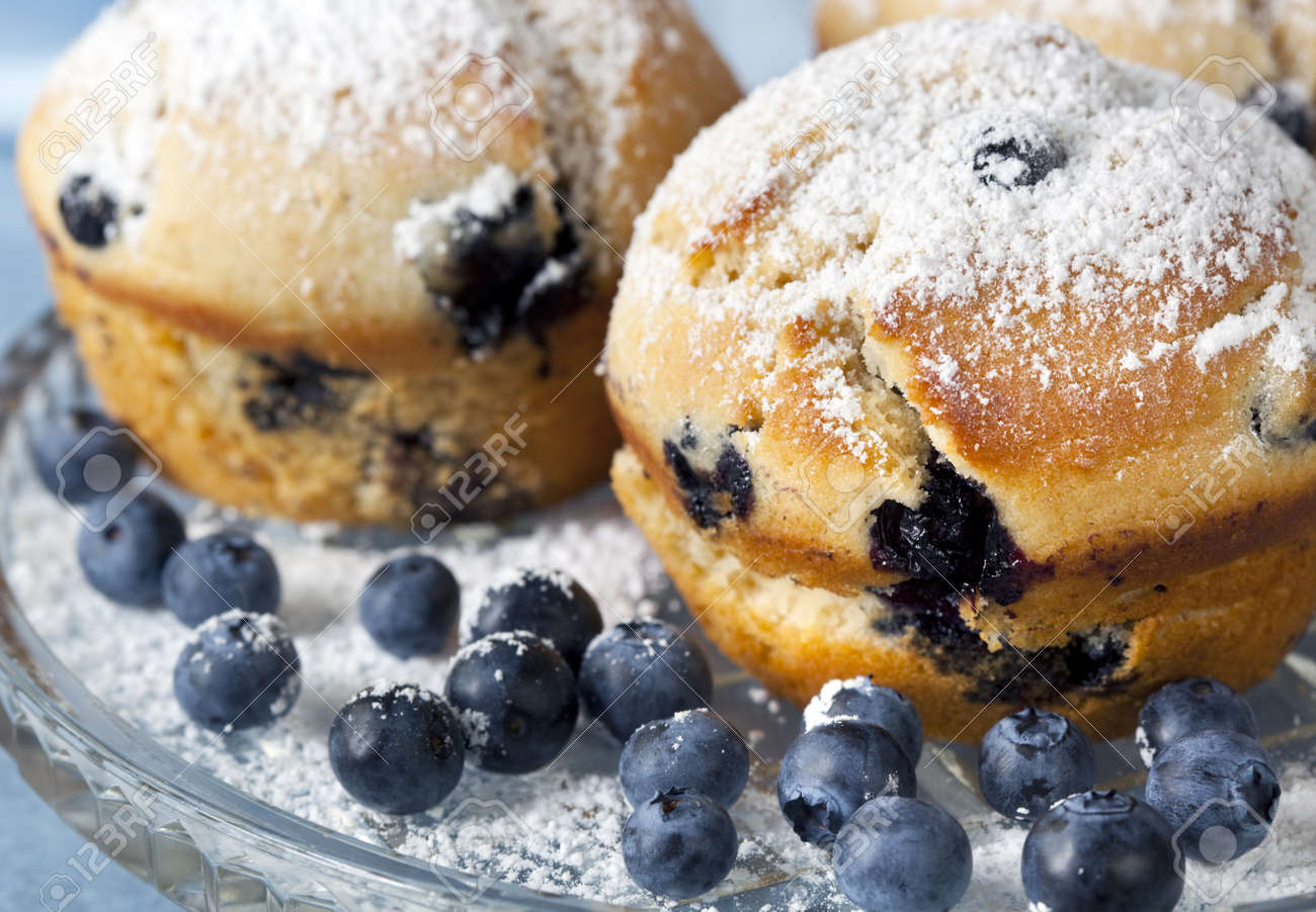 Blueberry Muffins With Icing Fresh Blueberry Muffins