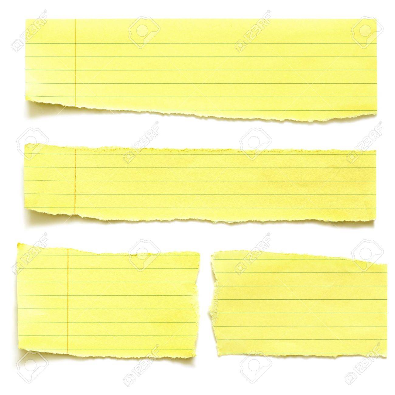 Yellow Notebook Paper Background Torn Yellow Paper Isolated On – Yellow Notebook Paper Background