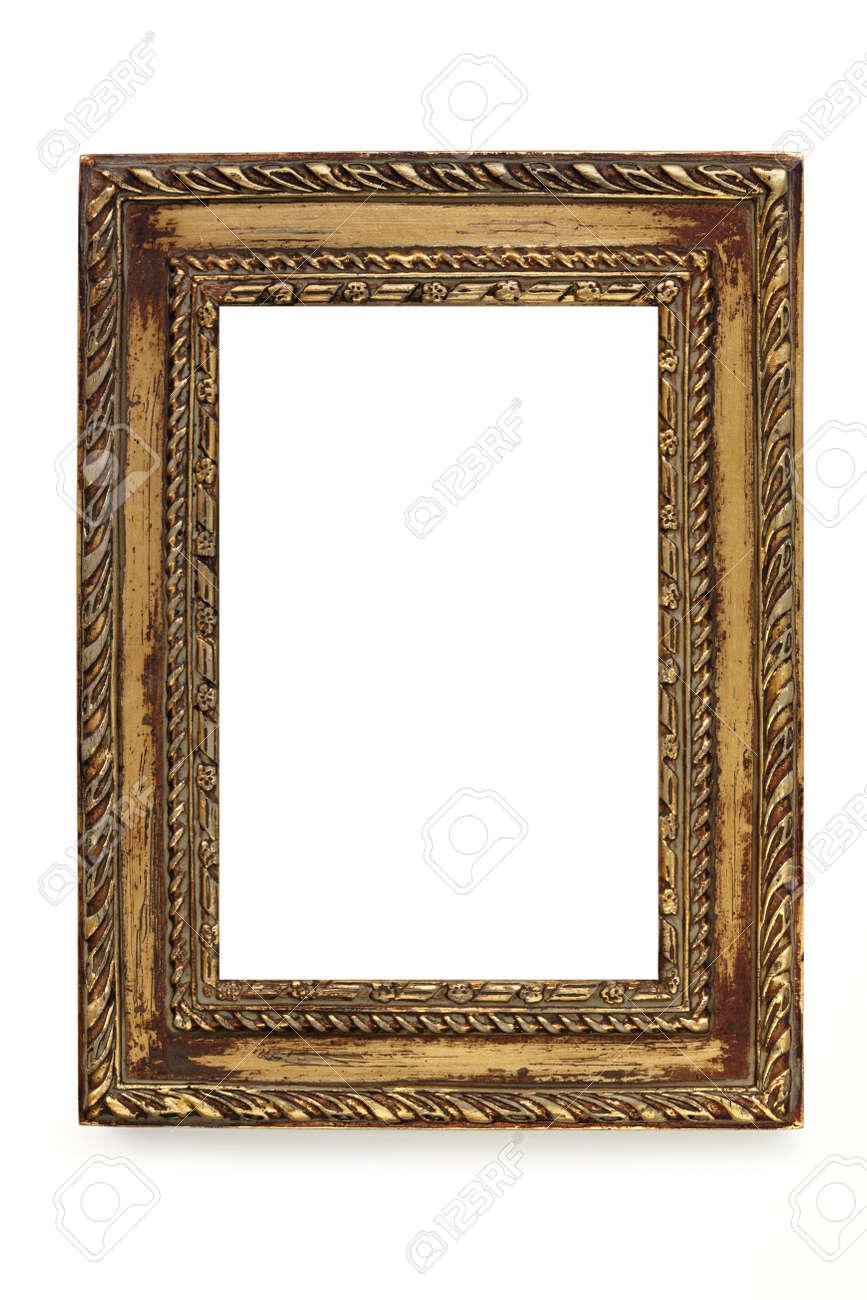 Gilded Shabby Chic Bilderrahmen über Weißem Hintergrund. Lizenzfreie ...