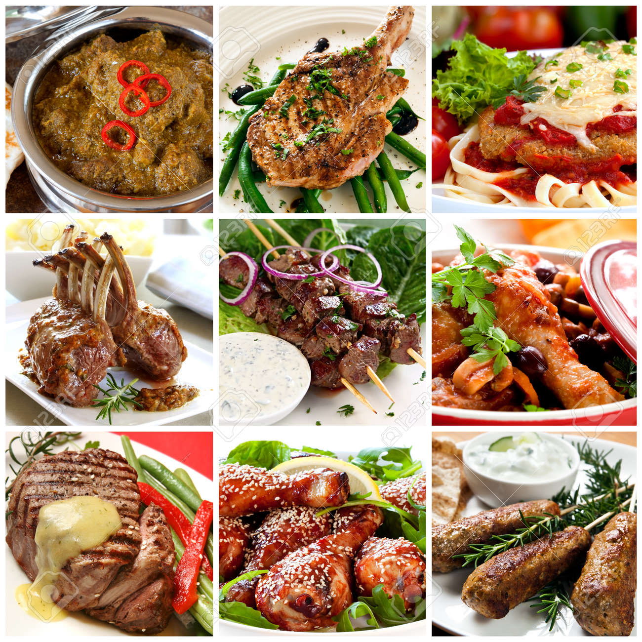 http://previews.123rf.com/images/robynmac/robynmac1208/robynmac120800012/14855686-Collection-of-warm-meat-dishes-Includes-lamb-pork-chicken--Stock-Photo.jpg