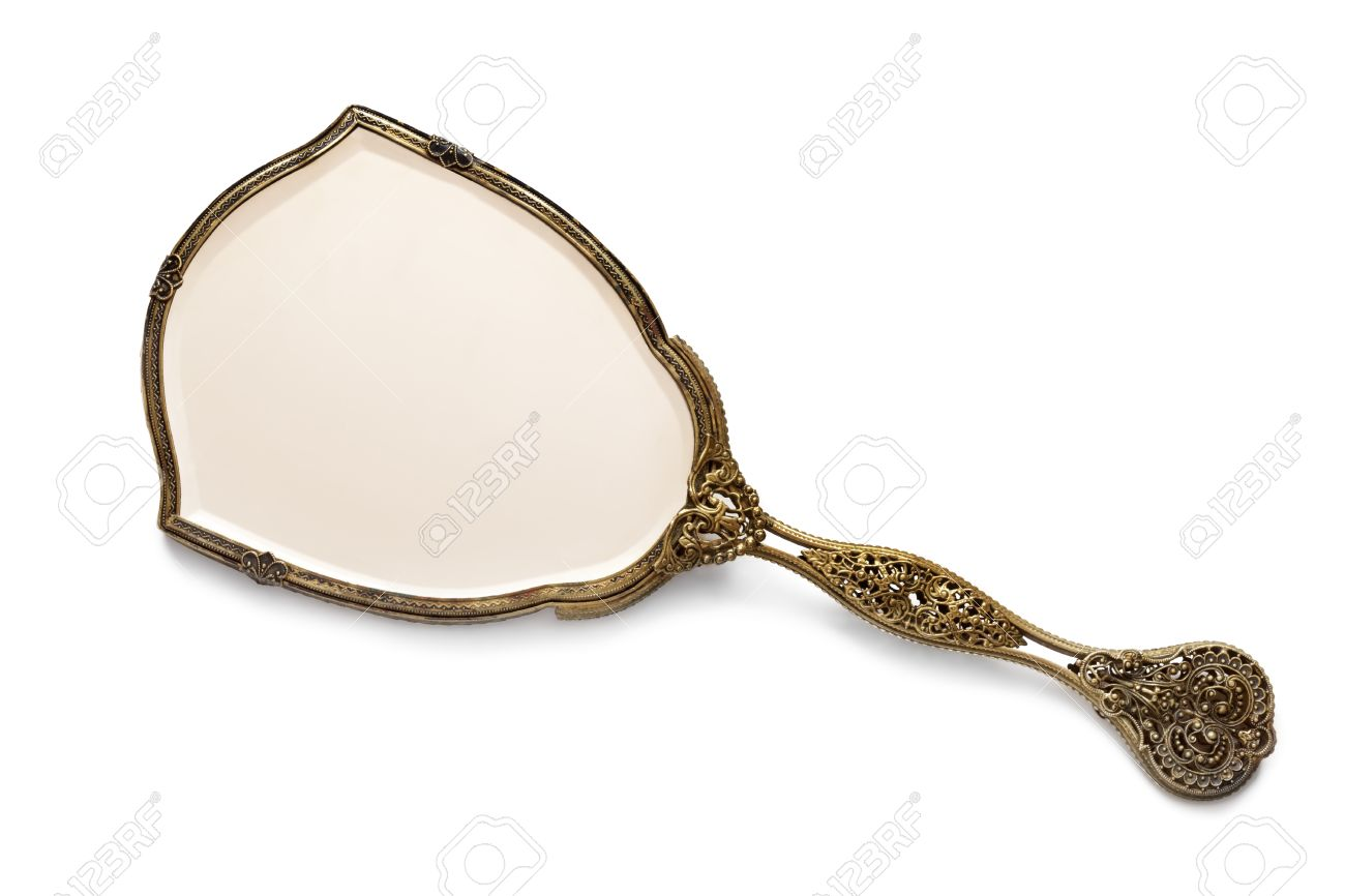 Antique hand mirror Plastic Stock Photo Vintage Antique Gilded Hand Mirror Isolated On White Background 123rfcom Vintage Antique Gilded Hand Mirror Isolated On White Background