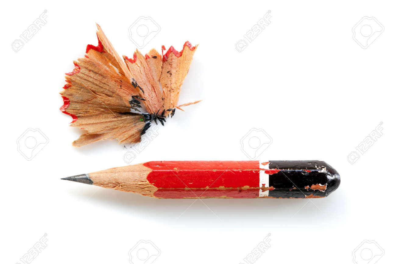 https www 123rf com photo 28286460 pencil stub and shavings isolated on white html