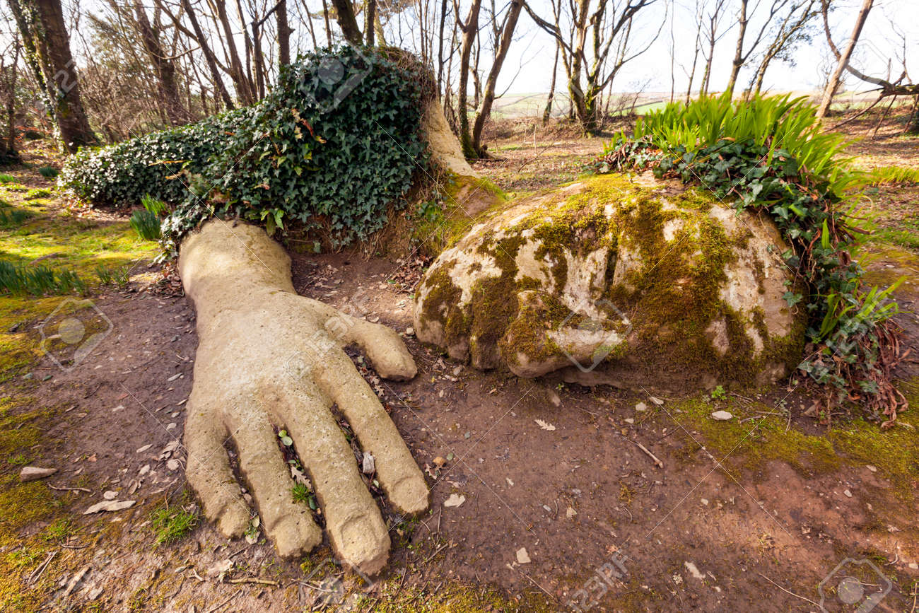 Mud Maiden at the Lost Gardens of Heligan, Cornwall, England. - 37732408