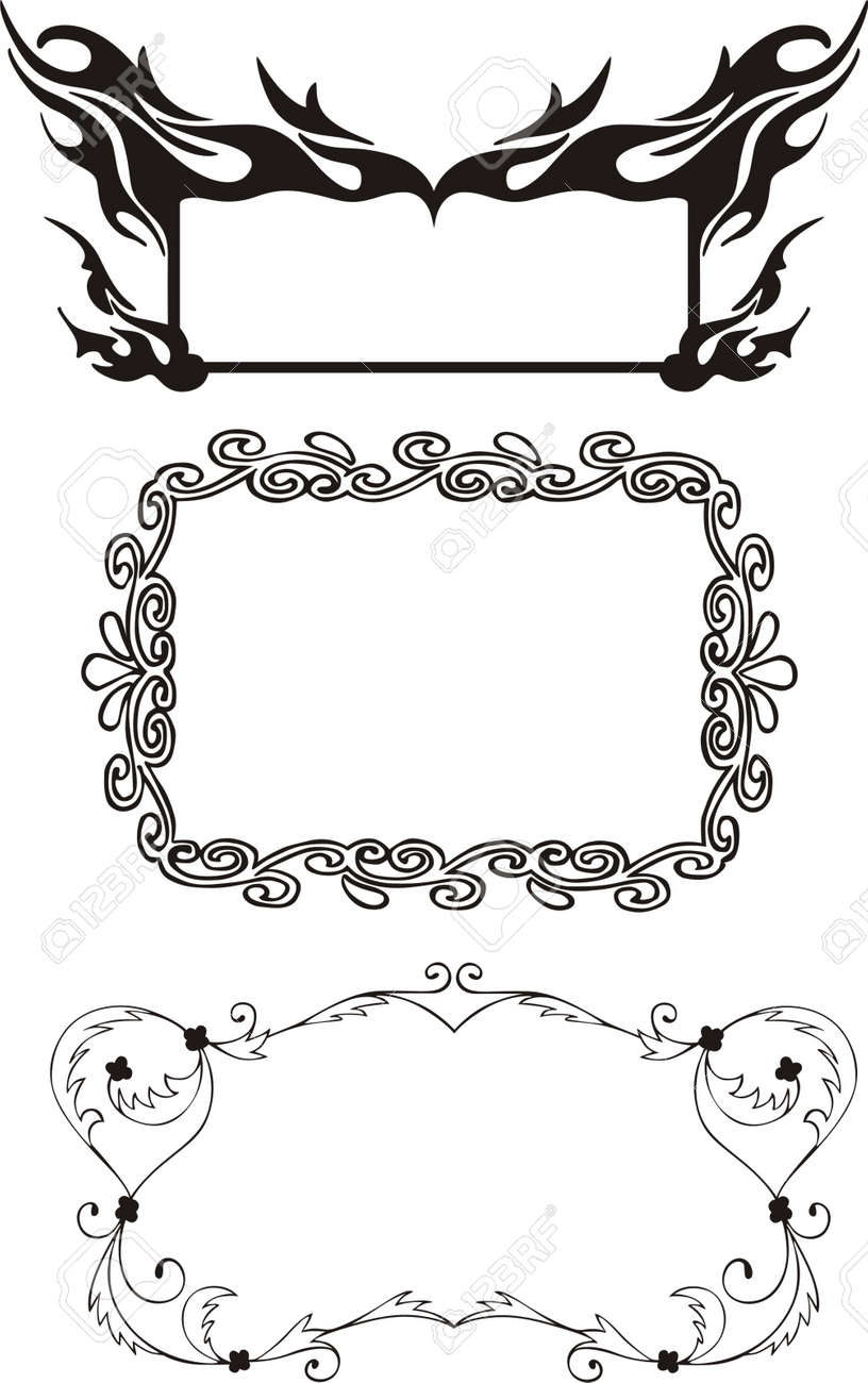 Three Ornamental Frames In Different Styles, Including Frame ...