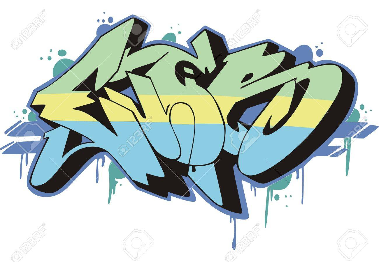 Graffito text design - ever. Color vector illustration. Stock Vector - 14953025