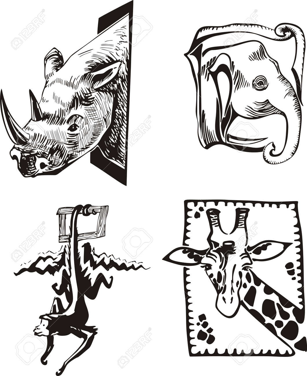 Wild Animal Sketches Sketches of African Wild