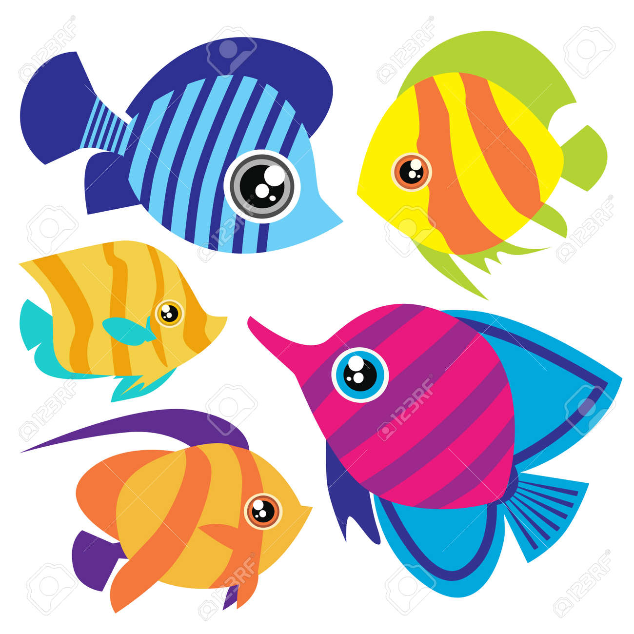 cartoon fish set Stock Vector - 8352761
