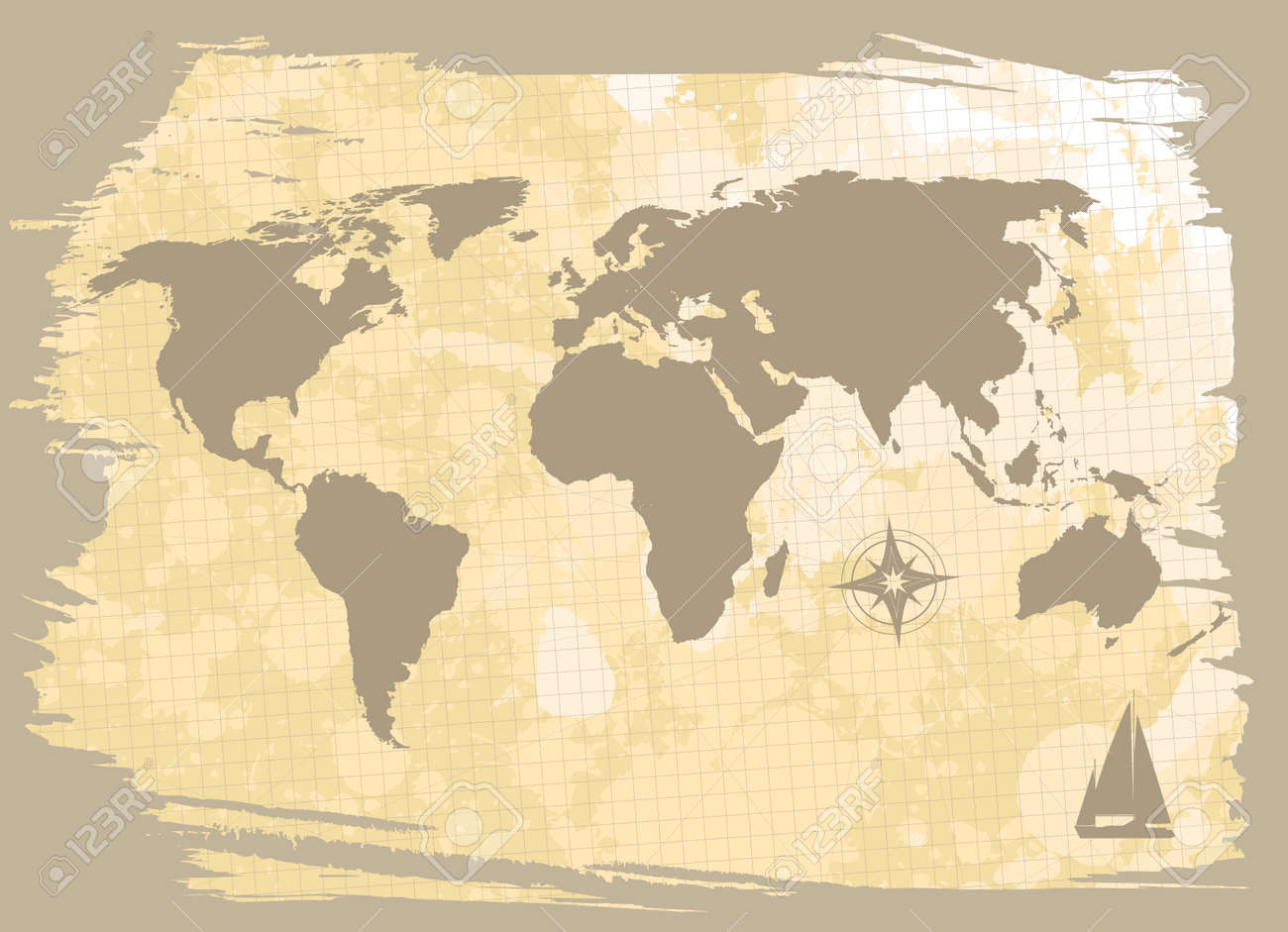 abstract background with world-map Stock Vector - 8479584