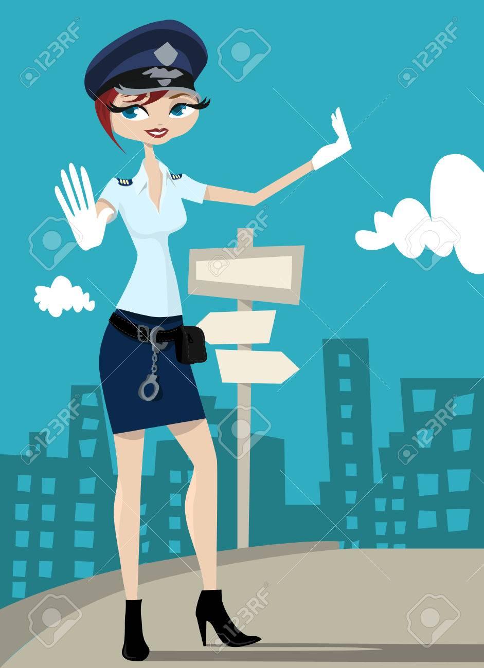 policewoman Stock Vector - 8566809