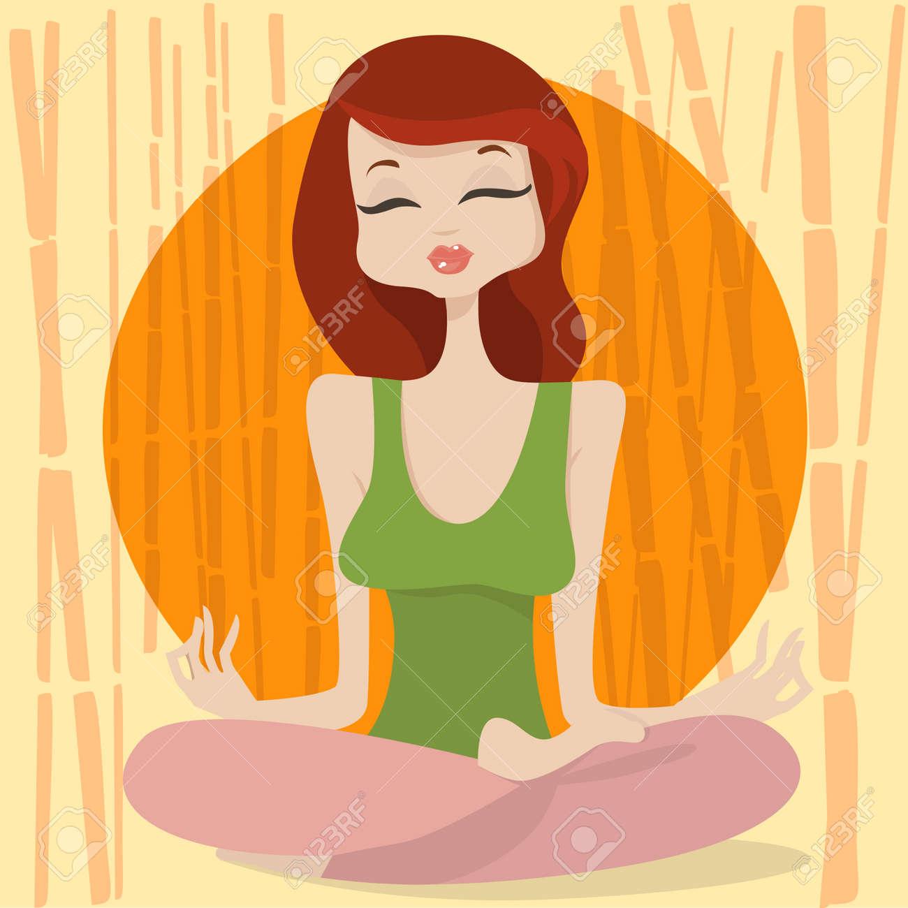 yoga time Stock Vector - 8566842