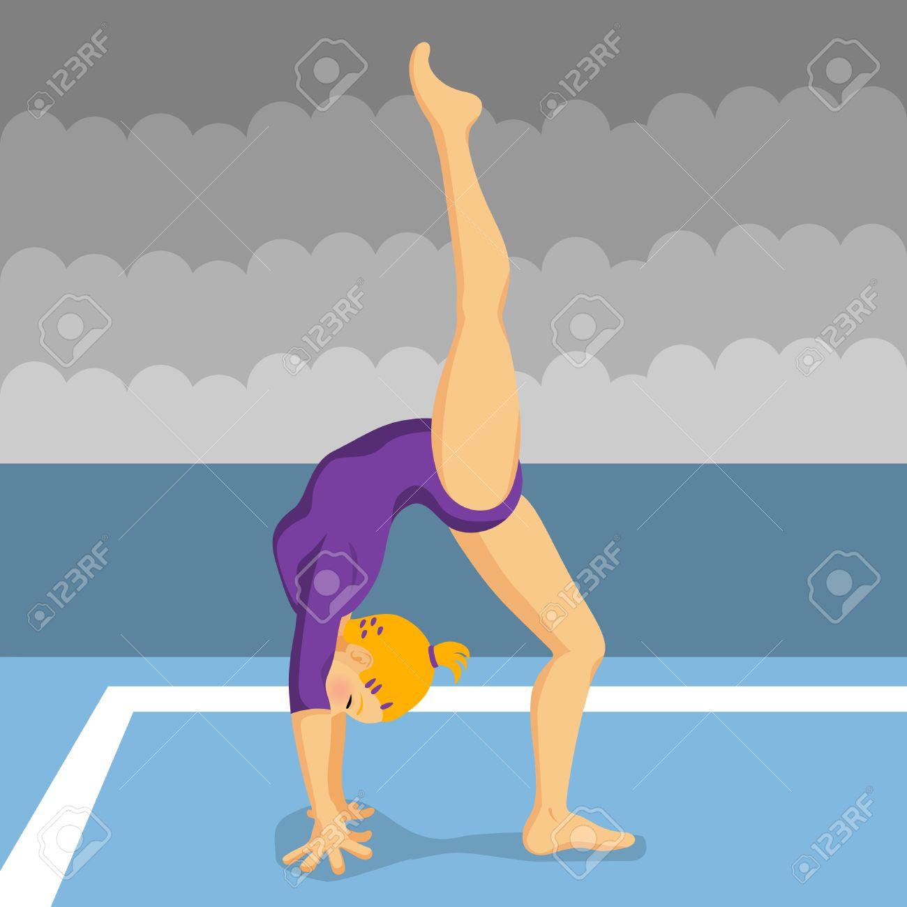 gymnast girl Stock Vector - 8717490
