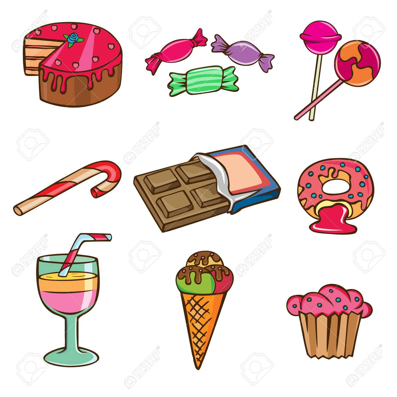 sweet icon set Stock Vector - 8717470
