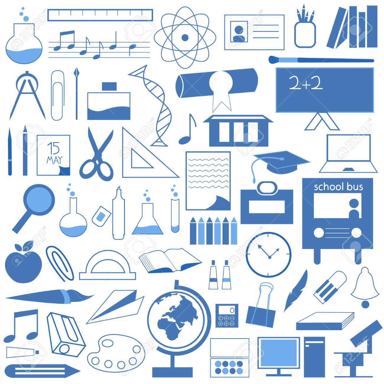 School And Education Icon Set Stock Vector - 8817407