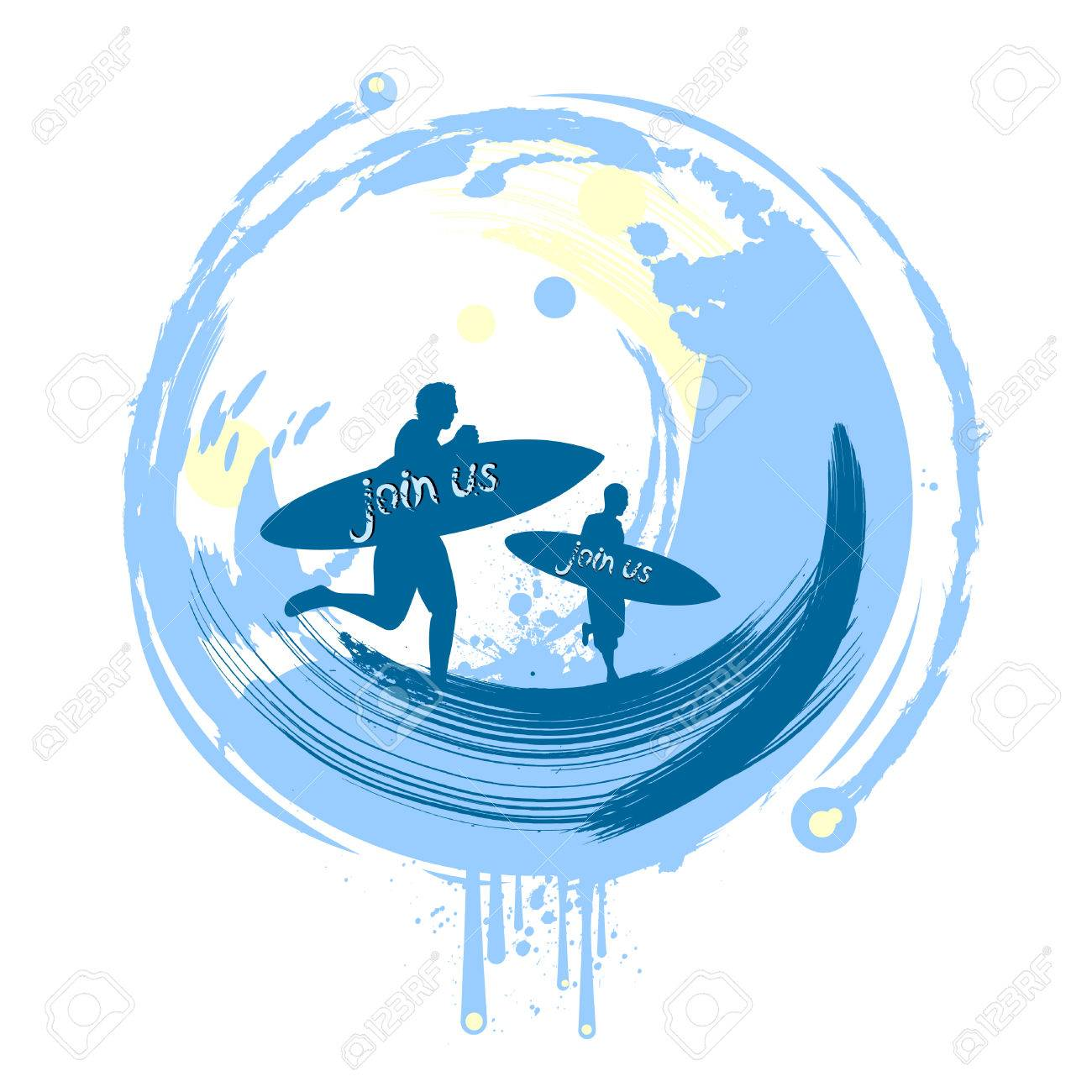 surfing background Stock Vector - 8817499