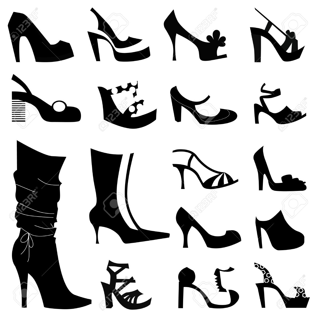 fashion woman shoes Stock Vector - 8940857
