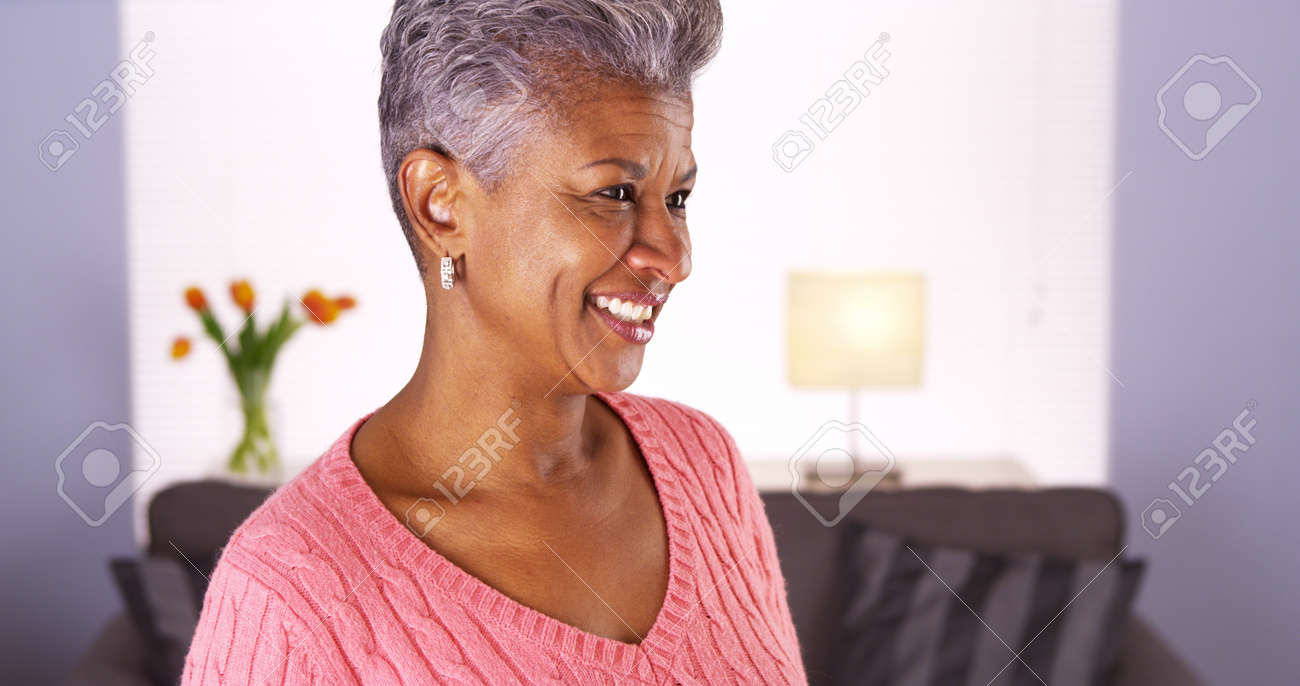 happy mature black woman stock photo, picture and royalty free image