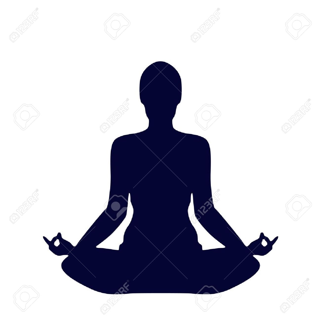 Pose Yoga Silhouette Isolated