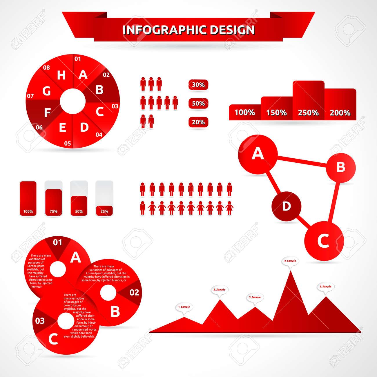 Diseño Infografía | Esqueleto Abstracto | Rojo | Opciones Gráficas ...